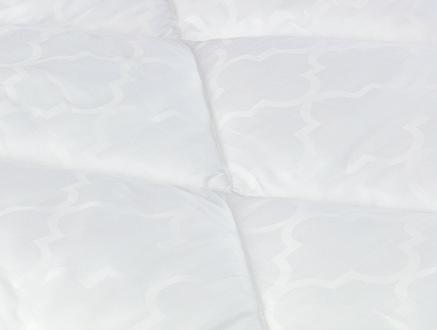 Nario Jakarlı Biyeli Çift Kişilik Yorgan - Beyaz