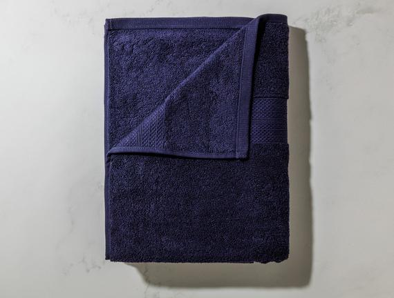 Roxane Banyo Havlusu - Lacivert - 90x150 cm