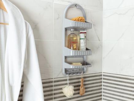 Leonda Banyo Askısı - Soft Gri