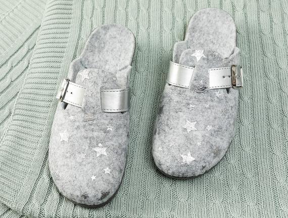 Elienor Kadın Terlik - Gümüş