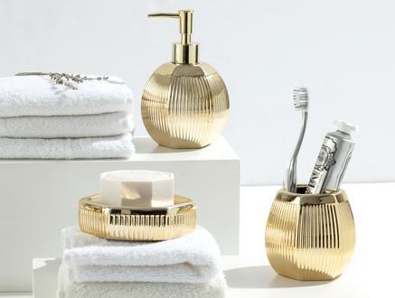 Bonar 3'Lü Banyo Seti - Altın
