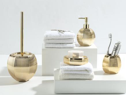 Bonar 4'Lü Banyo Seti - Altın