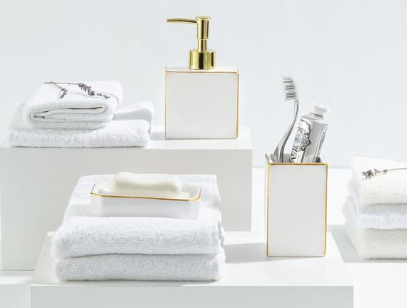 Charlita 3'Lü Banyo Seti - Altın