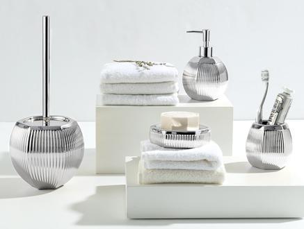 Bonar 4'Lü Banyo Seti - Gümüş
