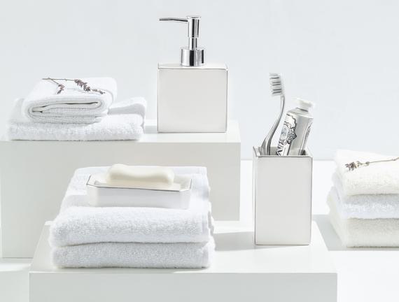 Charlita 3'Lü Banyo Seti - Gümüş