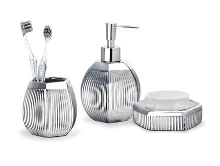 Bonar 3'Lü Banyo Seti - Gümüş