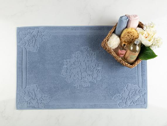 Olive Ayak Havlusu - Mavi - 60x90 cm