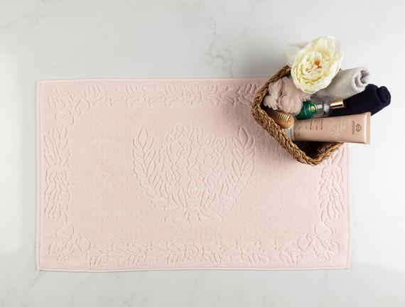 Daphne Ayak Havlusu - Pembe - 50x80 cm