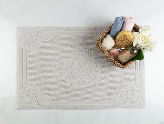 Olive Ayak Havlusu - Gri - 60x90 cm
