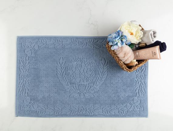 Daphne Ayak Havlusu - Mavi - 50x80 cm
