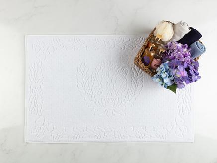 Daphne Ayak Havlusu - Beyaz - 60x90 cm
