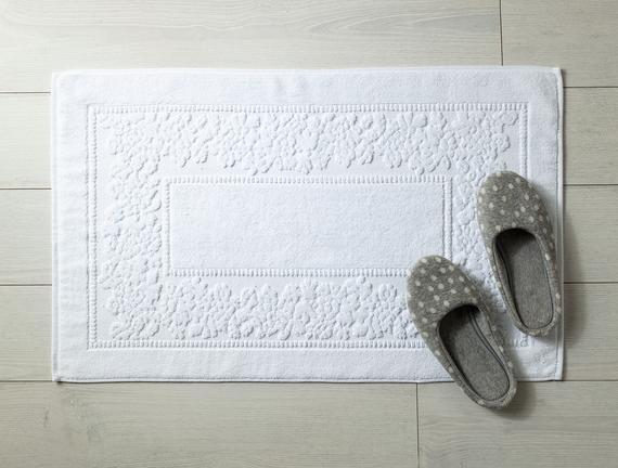 Ranier Ayak Havlusu - Beyaz - 60x90 cm