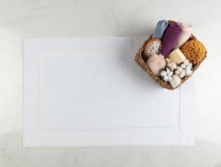 Saville Ayak Havlusu - Beyaz - 60x90 cm