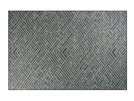 Darcia Halı - Açık Gri / Koyu Gri - 190x290 cm