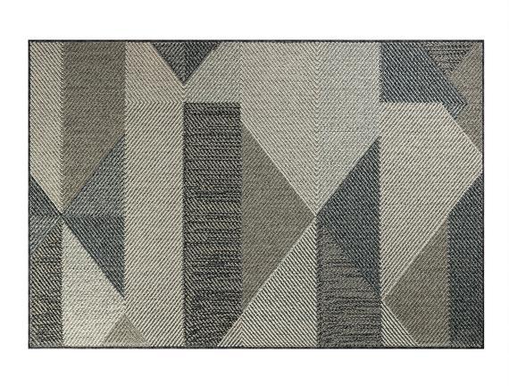 Marceau Halı - Açık Gri / Koyu Gri - 190x290 cm