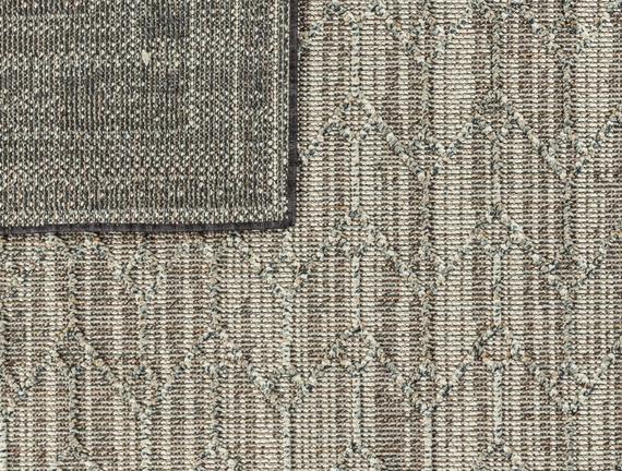Calantha Halı - Açık Gri / Koyu Gri - 150x230 cm