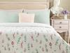 Zoe Tek Kişilik Çok Amaçlı Yatak Örtüsü - Beyaz / Gri