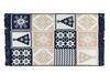 Raina Saçaklı Dokuma Kilim - Lacivert - 120x180cm