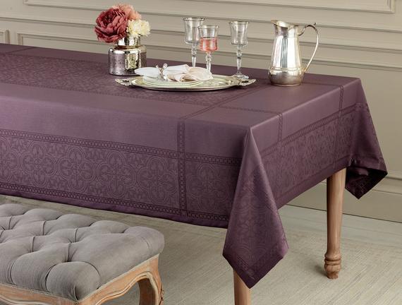 Moroccon Masa Örtüsü - Mürdüm - 160x300 cm