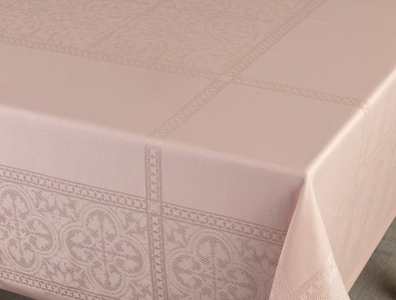 Moroccon Masa Örtüsü - Pudra - 160x300 cm