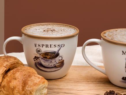 Plaisir Mignonne 2'li Kupa Seti - Açık Kahve - 240 ml