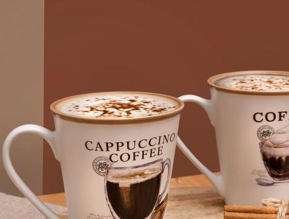 Plaisir İntrigant 2'li Kupa Seti - Açık Kahve
