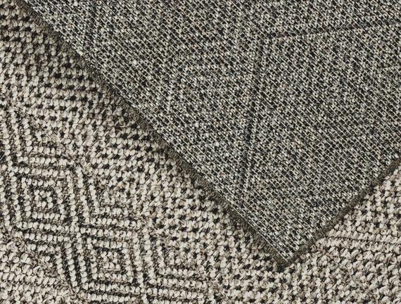Celesse Halı - Açık Gri / Koyu Gri - 80x150 cm