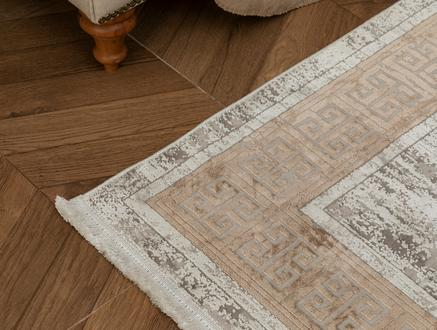 Audra İplik Boyalı Kadife Halı - Vizon - 80x150 cm