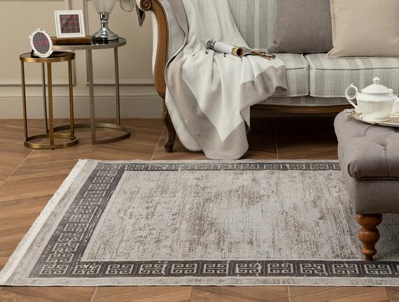 Audra İplik Boyalı Kadife Halı - Gri - 200x290 cm