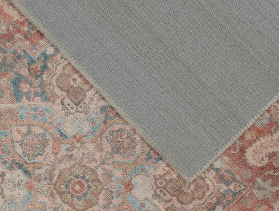 Curtice Dijital Baskılı Halı - Turuncu / Mavi - 160x230 cm