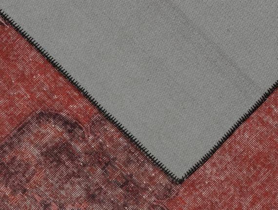 Laurette Dijital Baskılı Halı - Bordo - 80x300 cm