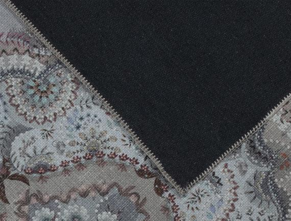 Ranier Dijital Baskılı Halı - Mavi / Gri - 80x150 cm