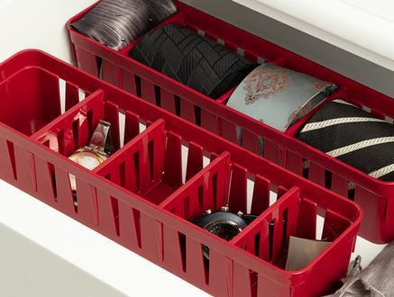 Eloi Ayarlanabilir Organizer 3'Lü - Carmen Kırmızı