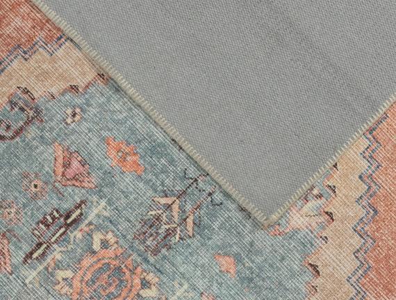 Somer Dijital Baskılı Halı - Mavi - 80x150 cm