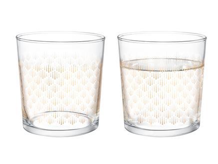 Pierretta-Golden Rain 4'lü Su Bardağı Seti 380 ml