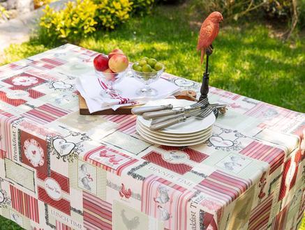 Pvc Masa Örtüsü - Kırmızı - 140x140 cm