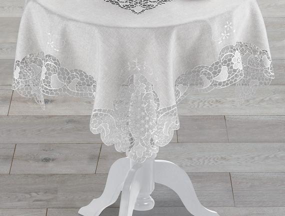 Flori  Masa Örtüsü - Gri - 100x100 cm