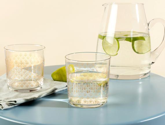 Pierretta-Golden Rain 4'lü Su Bardağı Seti