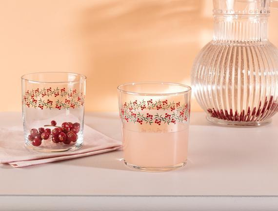 Pierretta-Cherry Bloom 4'lü Su Bardağı Seti