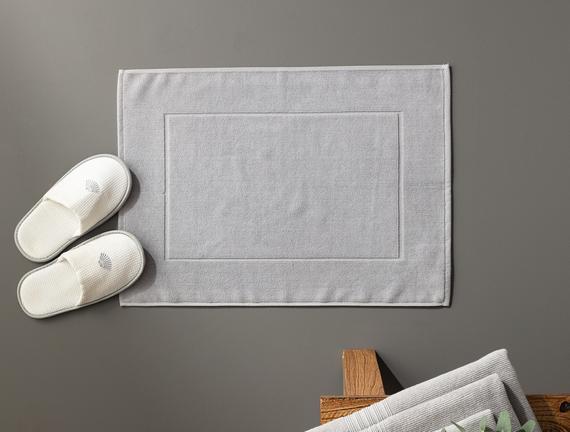 Stripe Armürlü Ayak Havlusu - Gri - 50x70 cm