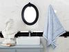 Maynard Jakarlı Banyo Havlusu - Mavi / Beyaz - 70x140 cm