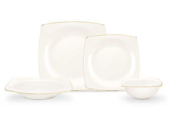 Aromis New Bone China 8 Parça Yemek Takımı - Altın