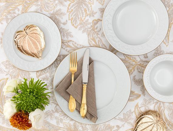 Rêveur 8 Parça Yemek Takımı - Altın