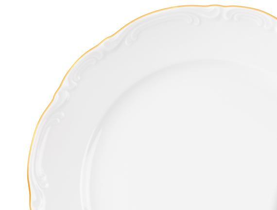 Broderie 8 Parça Yemek Takımı - Altın