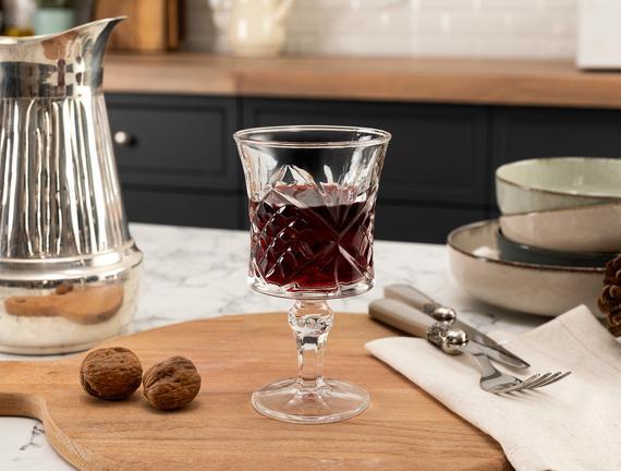 Aron 4'lü Uzun Boy Şarap Kadehi Seti 210 ml