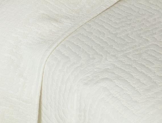 Lilou King Size Yatak Örtüsü - Beyaz