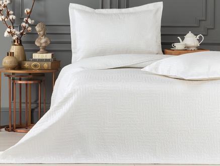 Lilou Çift Kişilik Yatak Örtüsü - Beyaz