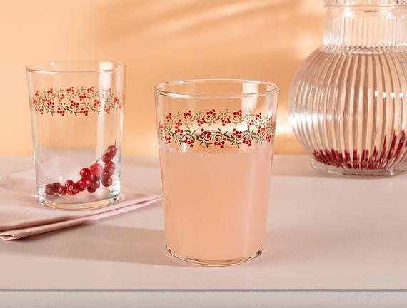 Pierretta-Cherry Bloom 4'lü Meşrubat Bardağı Seti