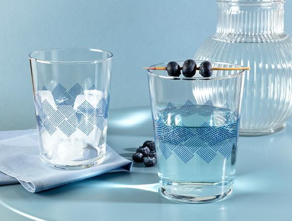 Pierretta Blue Rugs 4'lü Meşrubat Bardağı Seti