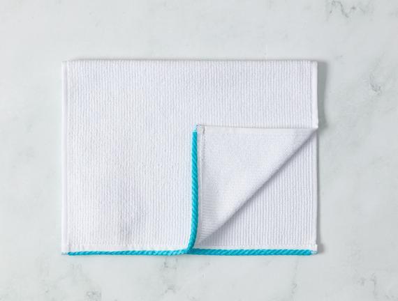 Prudence El Havlusu - Beyaz / Mint Yeşili - 30x45 cm